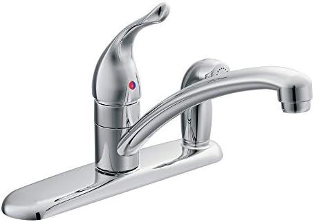 MOEN 7434 Chrome One-Handle Kitchen Faucet, 0.375