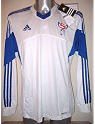 Adidas Islas Feroe Adulto Grande Manga Larga Camiseta Jersey fútbol Camiseta de Maglia