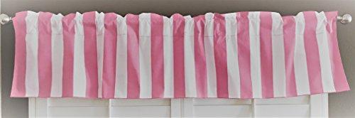 lovemyfabric Cotton Blend 2 Inch Bold Striped Print Kitchen Curtain Valance Window Treatment/Window decor (58