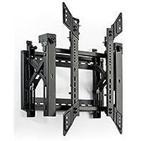 "Displays2go Pop-Out TV Wall Mount for 45"" to 70"" Monitors, Portrait Orientation – Black (VWM64POR)"