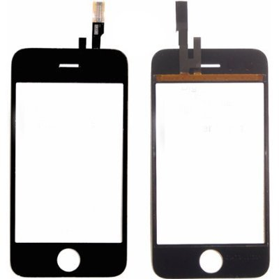 iPhone 3gS Screen Repair Kit - Apple iPhone 3gS Lcd Glass Screen Cover with Touch Screen Digitizer, Frame, Home Flex Button, Ear Speaker and Tool