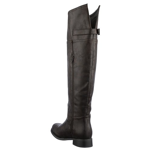 Breckelles Womens Rider-82 Boot - Brown Size 6.5 Z3ZoozSOF