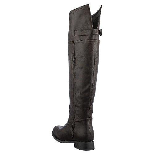 Breckelles Womens Rider-82 Boot - Brown Size 7.5 BzSrz5WHBv
