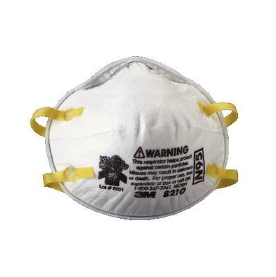 3M 8210 Particulate Respirator N95 -Case of 160