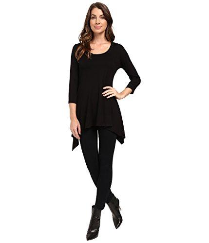 karen-kane-3-4-sleeve-handkerchief-top-black-womens-blouse