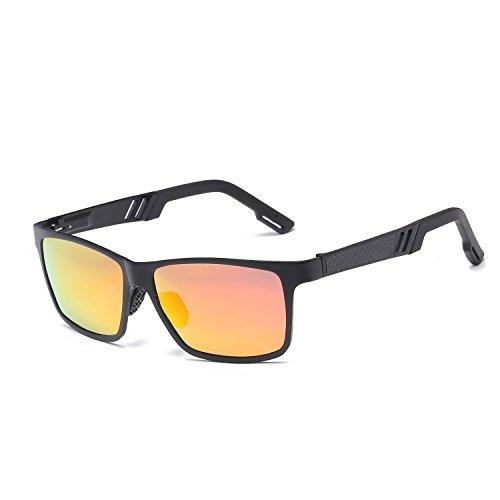 UV Lunettes de polarisé de hommes haut en soleil protection frame UV400 red black de lunettes conduite coloré miroir magnésium aluminium mercury gamme Matt WLHW soleil carrées U7ZdUW