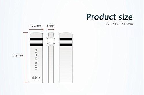 Amazon.com: RUICHENXI - Memoria USB impermeable con llavero ...