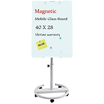 Amazon Com Mobile Glass Dry Erase Board Double Sided