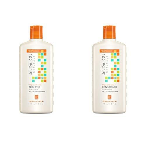 Andalou Naturals Argan Oil & Shea Moisture Rich Shampoo + Conditioner