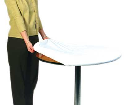 Kwik-Cover 72-W 72'' Round Kwik-Cover- White Fitted Table Cover (1 full case of 50) by Kwik-Covers