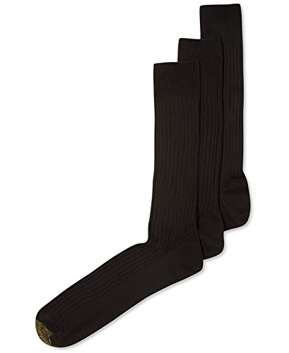 - Gold Toe Men's Canterbury Dress Sock (Brown)-2 PK (6 PAIRS) 10-13