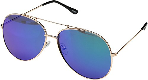 San Diego Hat Company Women's Metal Frame Aviator Sunglasses Gold One - San Diego Sunglasses