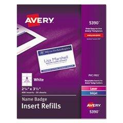 Avery 5390 Insert Badge Refill, Fits 2-1/4
