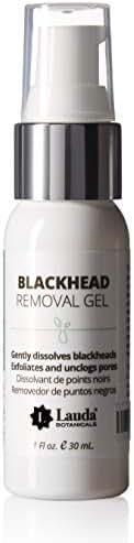 Blackhead Remover Cleanser with Salicylic Acid, Blackhead Eliminator & Dissolving Gel, 1 Ounce by LAUDA BOTANICALS