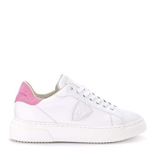 Fucsia Philippe Sneaker Neon Blanc Bianca E In Fluo Pelle Temple Model S0xwqTSR