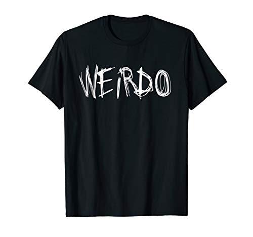 WEIRDO Punk Emo T-Shirt Funny Goth Heavy Metal Shirt -
