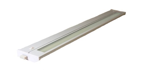 T2 Fluorescent Under Cabinet Light (American Lighting 043T-28-WH Hardwire Fluorescent Under Cabinet Lighting, 18-Watt Lamp with On/Off Switch, 120-Volt, White, 28-Inch)