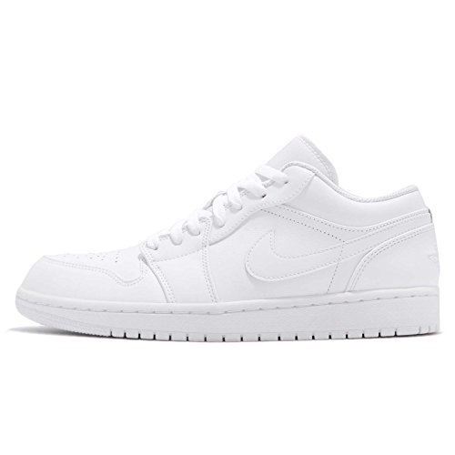 Jordan Men's Air 1 Low, White/Pure Platinum, 8.5 M US by NIKE