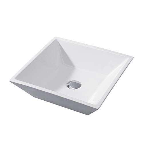 Luxier CS-006 Bathroom Porcelain Ceramic Vessel Vanity Sink Art Basin ()