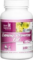 Nutri-Supreme Research Evening Primrose Oil 500 Mg 100 Vegetarian Softgel