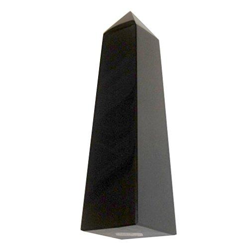 Pillar Obelisk - Obsidian Tower Black 01 Shiny Obelisk Protection Energy Beacon Point Pillar Wand 4.7