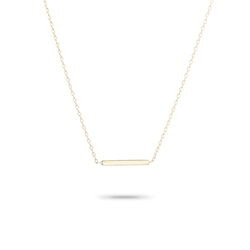 Adina Reyter Tiny Bar 14k Yellow Gold Pendant Necklace (Reyter Adina Necklace)