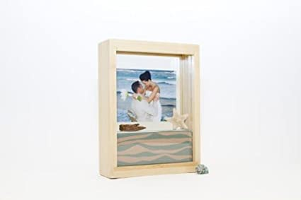 Amazon.com - Unity Sand Ceremony Frame Kit, Bamboo Wood, Includes 2 ...