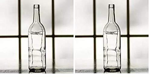 Midwest Homebrewing Supplies 750 ml Clear Glass Claret/Bordeaux Bottles, 12 per case (Twо Расk)