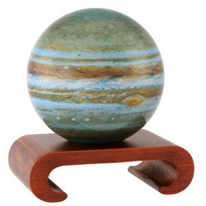 4.5'' Jupiter MOVA Globe with Arched Base in Natural Wood