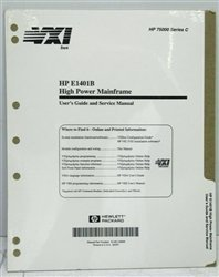 Hewlett Packard (HP) E1401-90009 User's Guide and Service Manual for E1401B High Power VXI - Manuals Users Hp