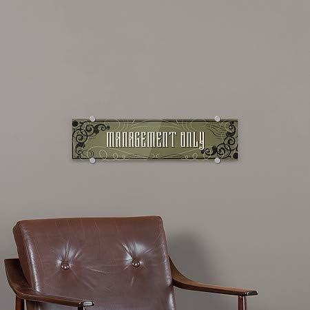 Management Only Victorian Gothic Premium Brushed Aluminum Sign CGSignLab 5-Pack 24x6