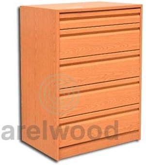 Alto 81,3 cm. arelwood Cajonera Frente Postformado Blanca Montada 40X40 - 4 Cajones de 16 cm 1 Caj/ón 8 cm +
