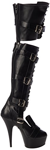 Negro Negro Polacchine 3068 Pleaser Donna Str Faux Matte Blk Blk Leather Delight CIwXqwS