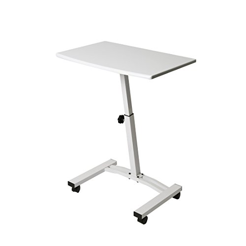 Seville Classics OFF65855 Mobile Laptop Computer Desk Sit Stand, Height-Adjustable from 20.5