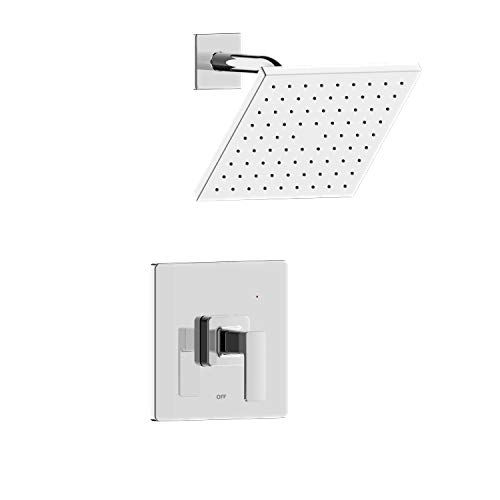 """""""Hôtel de Ville,"""" MFF-HVS-CP, Fontaine by Italia, Square Single Handle Shower Only Trim Set with Square Shower Head and Rough-in Valve in Chrome"""