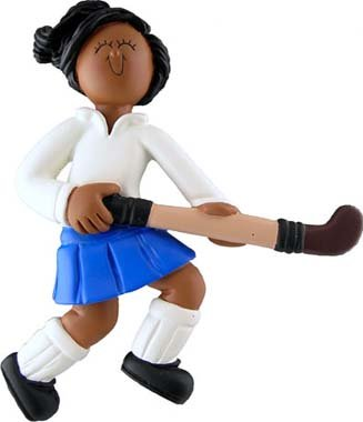 Ornament Central Field Hockey Player, Female, African American