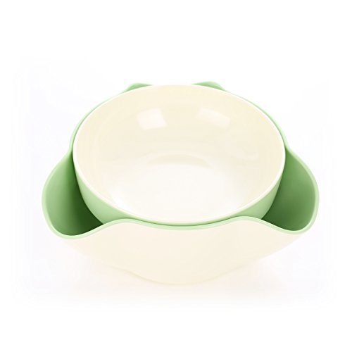ut Bowl with Pistachios Shell Storage (Green) (Double Nut Dish)