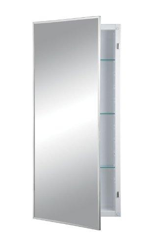 Jensen 460P34CH Federal Spec Medicine Cabinet, Stainless Steel, 16-Inch by 36-Inch