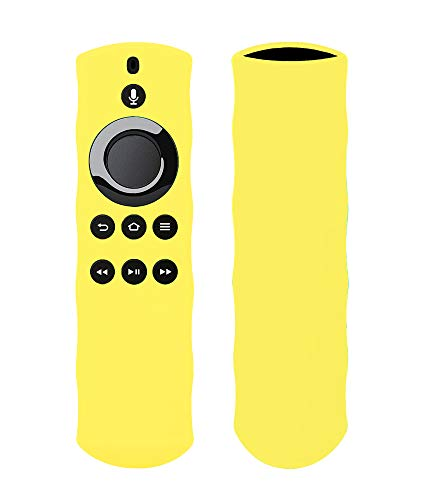 Silicon Case for Alexa Voice Remote for Fire TV and Fire TV Stick by 1XD GEAR (Lemon Yellow)