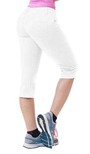 Women's Butt Lift Super Comfy Stretch Denim Capri Jeans-Q43301X-WHITE-20