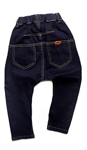 b868e1d5c0fa ORO Boys' Full Elastic Waist Dark Blue Jeans Harem Pant (8-9 years ...