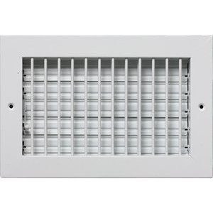 Metal-Fab MFVSCA84W Adjustable Air Supply Diffuser Grille Register, HVAC Vent Duct Cover Sidewall or Ceiling, 8 x 4-Inch, White - Vent Duct Cover