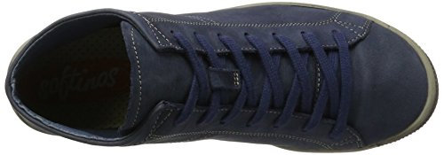 Zapatillas Softinos Altas Washed Mujer Leather para Azul Navy Isleen wTaqtHTF