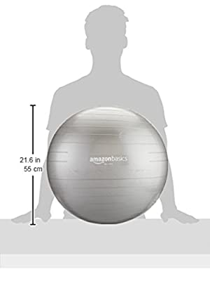 AmazonBasics Balance Ball with Hand Pump