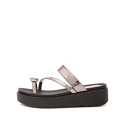 S Punta Moda de de Sandalias de Ocasionales Dulces Color Sandalias Planas Verano DHG de de Sandalias Zapatillas Mujer Tn8R6R