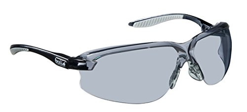 - Bollé Safety 253-AX-40033 Axis Safety Eyewear with Black/Gray Polycarbonate + TPR Rimless Frame and Smoke Lens