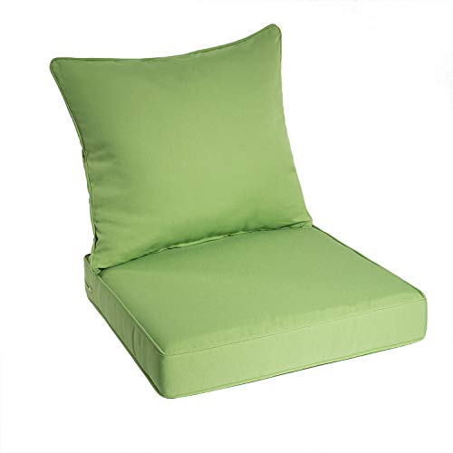 Art Leon Outdoor/Indoor Patio Deep Seat Chair Cushion Set,Including One Backrest and One Seat Cushion (Green)