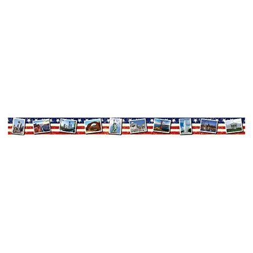 Edupress US Landmarks Postcards Straight Border Trim (EP63287)