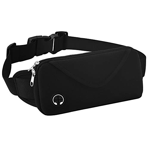 Aisver Fanny Packs Waist Bag for Women & Men, Waterproof Lightweight Phone Holder Running Belt Compatible for iPhone X 8 7 Plus, Galaxy S9 S8 S7, Adjustable Strap for Gym Traveling Hiking Cycling by Aisver