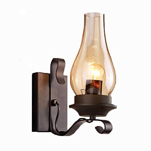 (JWI Swing Arm Wall Lamp Retro Wall Lamp Industrial Wind Decoration Restaurant Candlestick Bedroom Bedside Solid Wood Indoor Wall Lighting (Color : Brass, Size : Free Size))